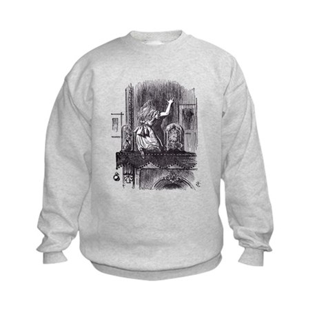 Looking Glass Front and Back Kids Sweatshirt