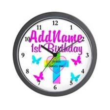 CHRISTIAN 1 YR OLD Wall Clock
