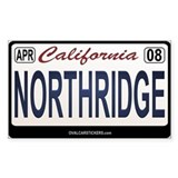 California License Plate Sticker - NORTHRIDGE