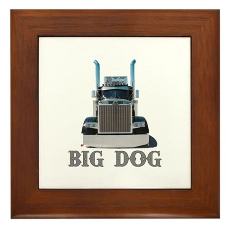 Big Dog Framed Tile