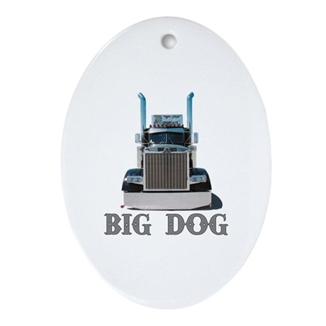 Big Dog Oval Ornament