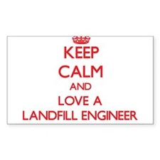 Keep Calm and Love a Landfill Engineer Decal