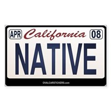 California License Plate Sticker - NATIVE