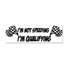 Cute Speeding Car Magnet 10 x 3