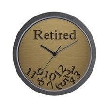 Fallen Numbers Retirement Wall Clock