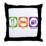 Eat Sleep Photograph Throw Pillow