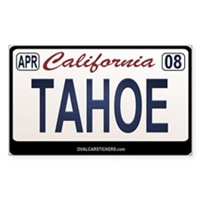 California License Plate Sticker - TAHOE