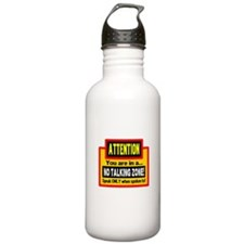 No Talking Zone Water Bottle