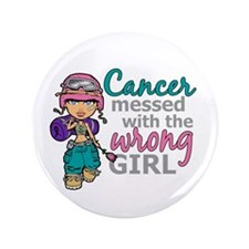 "Combat Girl Thyroid Cancer 3.5"" Button"