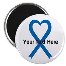 """Personalized Blue Ribbon He 2.25"""" Magnet (10 pack)"""