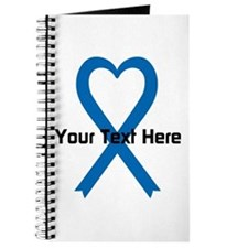 Personalized Blue Ribbon Heart Journal
