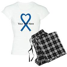 Personalized Blue Ribbon He Pajamas