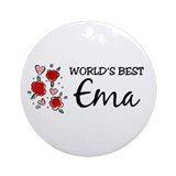 WB Mom [Estonian] Ornament (Round)