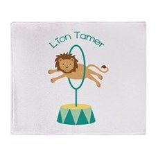 Lion Tamer Throw Blanket