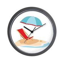 Sun Umbrella And Chair Wall Clock