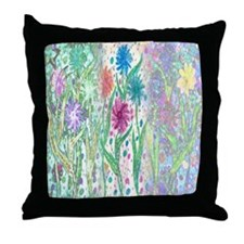 Funny Wildflowers Throw Pillow