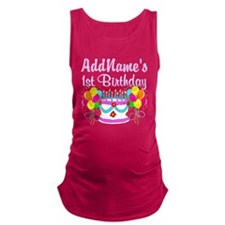 1 YR OLD PARTY Maternity Tank Top