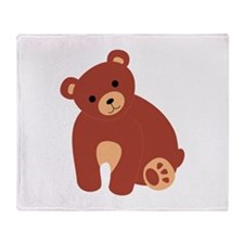 Bear Animal Throw Blanket