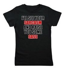 Sarcasm vs. Sass Girl's Tee