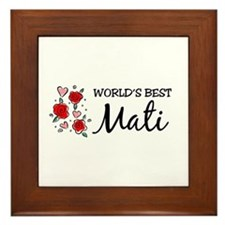 WB Mom [Croatian] Framed Tile
