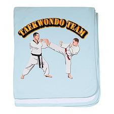 Taekwondo Team baby blanket