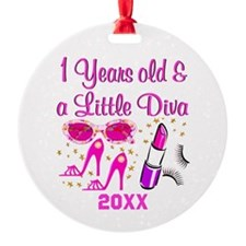 1 YR OLD DIVA Ornament