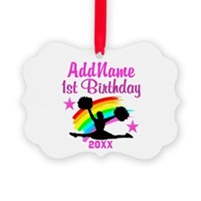 CHEERING 1 YR OLD Ornament