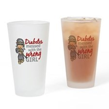 Combat Girl Diabetes Drinking Glass