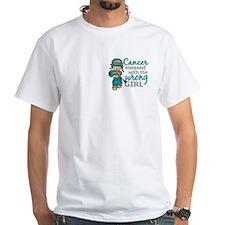 Combat Girl Ovarian Cancer Shirt