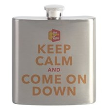 Keep Calm and Come On Down Flask