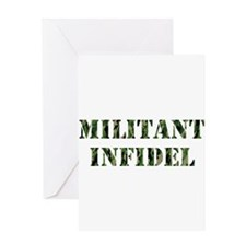 Militant Infidel Greeting Cards