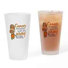 Combat Girl Leukemia Drinking Glass