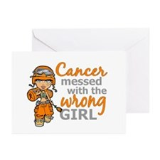 Combat Girl Kidney Cance Greeting Cards (Pk of 20)