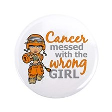 "Combat Girl Kidney Cancer 3.5"" Button (100 pack)"