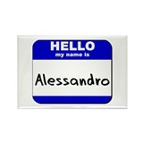 hello my name is alessandro Rectangle Magnet