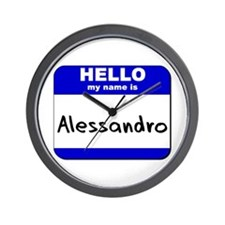 hello my name is alessandro  Wall Clock