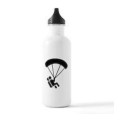 Skydiving tandem Water Bottle