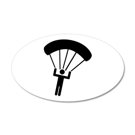 Skydiving icon 20x12 Oval Wall Decal