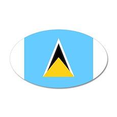 Flag of Saint Lucia Wall Sticker