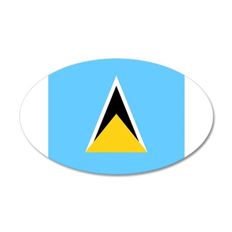 Flag of Saint Lucia Wall Sticker