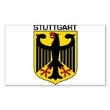 Stuttgart, Germany Rectangle Decal