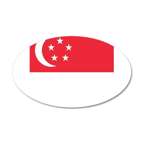 Flag of Singapore Wall Sticker