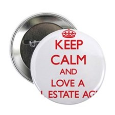 "Keep Calm and Love a Real Estate Agent 2.25"" Butto"
