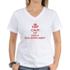 Keep Calm and Love a Real Estate Agent T-Shirt