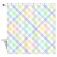 Pastel Plaid Shower Curtain
