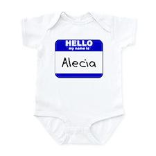 hello my name is alecia  Infant Bodysuit