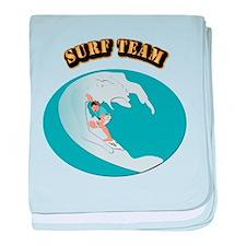 Surf Team baby blanket