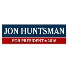 Jon Huntsman For President 2016 Bumper Bumper Sticker