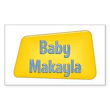 Baby Makayla Rectangle Decal