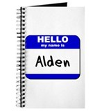 hello my name is alden Journal